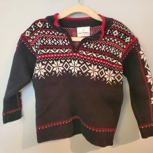 Hanna Andersson half zip Nordic size 90 sweater